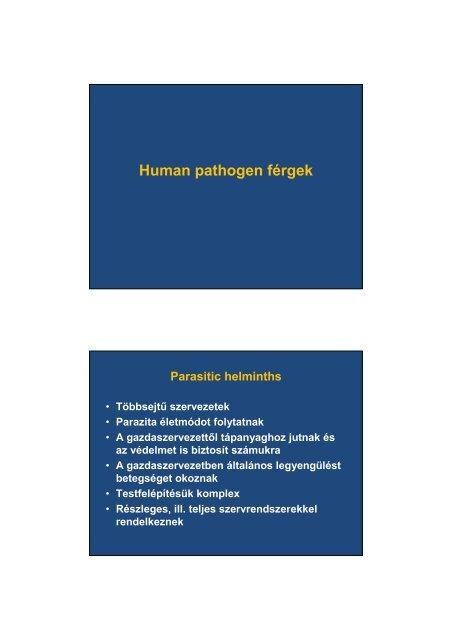 coprogram férgek helminthiasis tabletták