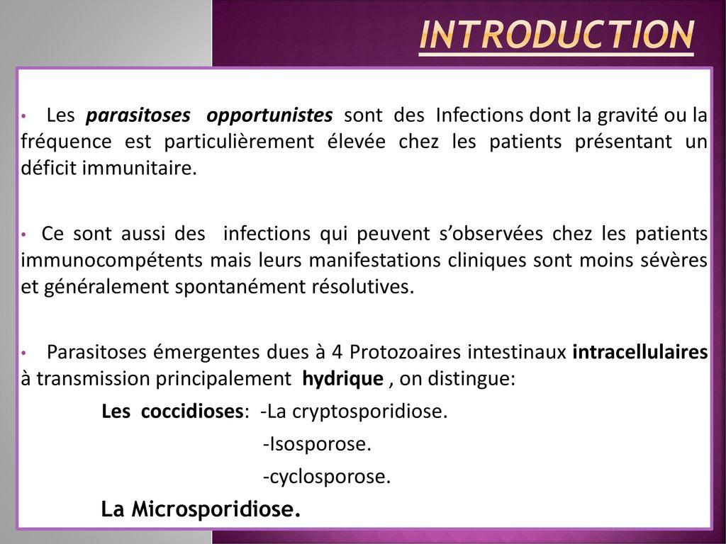 les parasites opportunistes szag a tüdőből