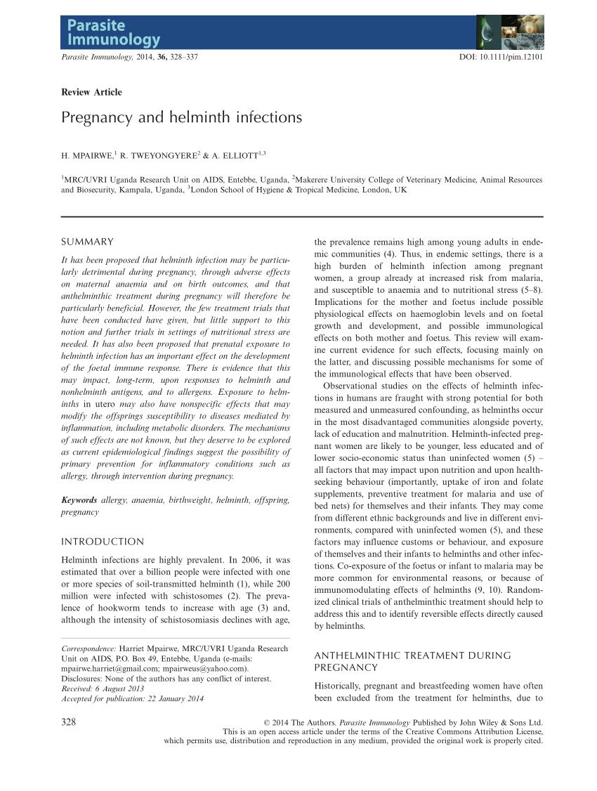helminthiasis HIV- ben